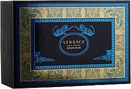 Parfumuri și produse cosmetice Versace Pour Homme Dylan Blue - Set (edt/100ml + edt/10ml + pouch)