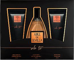 Parfumuri și produse cosmetice Instituto Espanol Aire de Sevilla Solo Tu - Set (edt/150ml + s/g/150ml + b/cr/150ml)