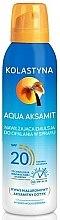 Parfumuri și produse cosmetice Spray hidratant pentru bronz - Kolastyna Aqua Aksamit SPF 20