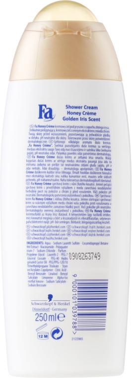 Cremă pentru duș - Fa Honey Golden Iris Scent Shower Cream — Imagine N2