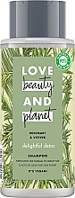 Parfumuri și produse cosmetice Șampon pentru păr normal și gras - Love Beauty&Planet Delightful Detox Rosemary & Vetiver Vegan Shampoo