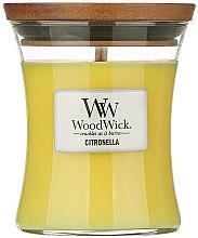 Parfumuri și produse cosmetice Lumânare parfumată în suport de sticlă - WoodWick Citronella Medium Candle