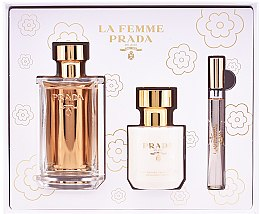 Parfumuri și produse cosmetice Prada La Femme Prada - Set (edp/100ml + b/lot/100ml + edp/mini/10ml)