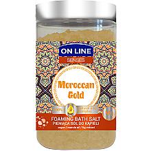 Parfumuri și produse cosmetice Sare de baie - On Line Senses Bath Salt Moroccan Gold