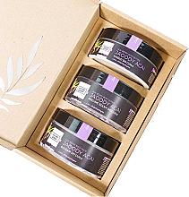 "Parfumuri și produse cosmetice Set ""Pomușoare Acai"" - Nature Queen(peel/250g+b/butter/150ml+b/lotion/200ml)"