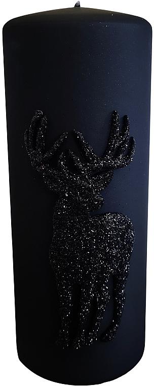 Lumânare decorativă, neagră 7x18cm - Artman Jelen Application (Deep Application) — Imagine N1