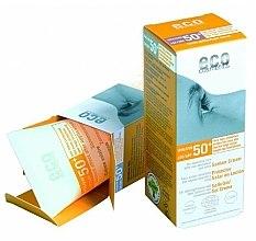 Parfumuri și produse cosmetice Cremă de protecție solară SPF 50 cu extract de rodie și cătină - Eco Cosmetics Suntan Cream SPF 50+
