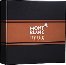 Parfumuri și produse cosmetice Montblanc Legend Night - Set (edp/50ml + ash/balm/100ml)
