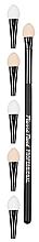 Parfumuri și produse cosmetice Pensulă-aplicator pentru aplicarea umbrelor cu capăt interschimbabil - Pierre Rene