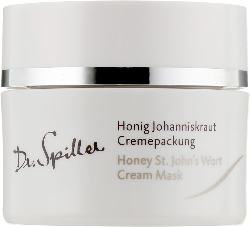Увлажняющая и успокаивающая крем-маска с маслом зверобоя - Dr. Spiller Honey St.John's Wort Cream Mask — фото N1
