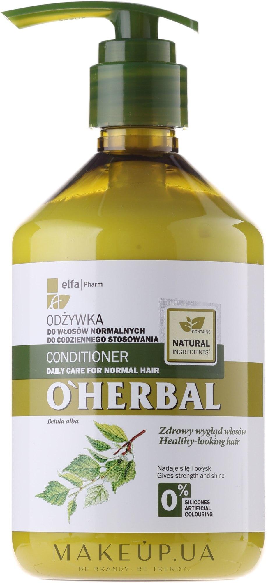 Balsam de păr condiționat pentru utilizare zilnică cu extract de mesteacăn - O'Herbal — Imagine 500 ml