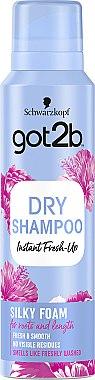 """Șampon uscat """"Volum mătăsos"""" - Schwarzkopf Got2b Fresh it Up! Dry Shampoo Silky Foam"""