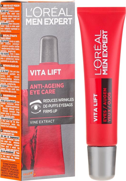 Cremă pentru pielea din jurul ochilor pentru bărbați - L'Oreal Paris Men Expert Vita Lift Eye Cream — Imagine N1