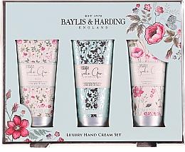 Parfumuri și produse cosmetice Set pentru îngrijirea mâinilor - Baylis & Harding Royale Garden Luxury Hand Care Set (h/cr/3x50ml)