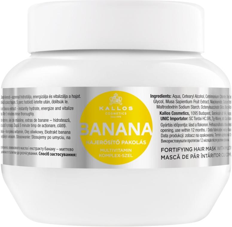 Mască pentru întărirea părului cu extract de banane - Kallos Cosmetics Banana Mask