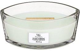 Parfumuri și produse cosmetice Lumânare aromată în suport de sticlă - WoodWick Ellipse Candle Fig Leaf And Tuberose