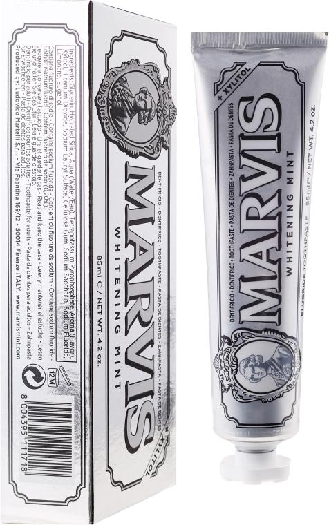 Pastă de dinţi cu efect de albire cu xylitol - Marvis Whitening Mint + Xylitol