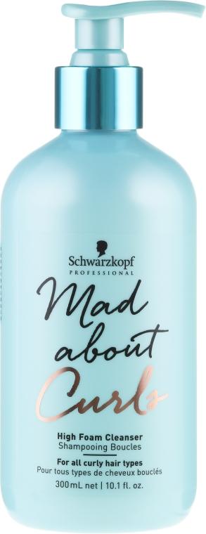 Șampon fără sulfați pentru păr creț - Schwarzkopf Professional Mad About Curls High Foam Cleanser Shampoo