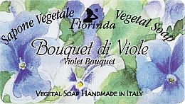 """Parfumuri și produse cosmetice Săpun natural """"Buchet de violete"""" - Florinda Sapone Vegetale Vegetal Soap Violet Bouquet"""
