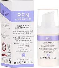 Parfumuri și produse cosmetice Cremă-gel lifting cu efect radiant pentru zona ochilor - Ren Keep Young And Beautiful