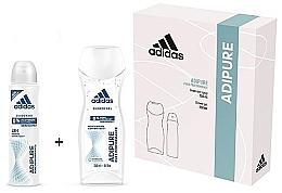 Parfumuri și produse cosmetice Set - Adidas Adipure Woman (deo/spray/150ml + sh/gel/250ml)