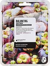 """Parfumuri și produse cosmetice Mască de țesut pentru față """"Mangosteen"""" - Superfood For Skin Balancing Sheet Mask"""
