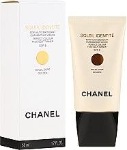 Parfumuri și produse cosmetice Autobronzant pentru față - Chanel Soleil Identite SPF 8 Dore Golden