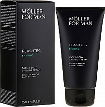 Parfumuri și produse cosmetice Cremă de ras - Anne Moller Man Flashtec Shaving Face And Body Shaving Cream