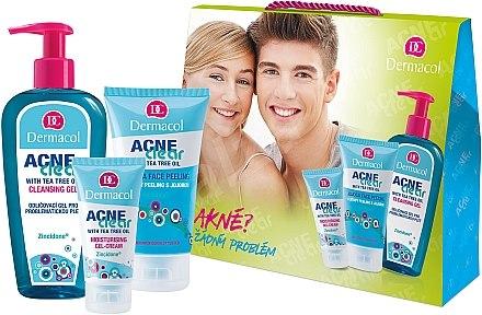 Set - Dermacol Acneclear (clean/gel/200ml + gel/cr/50ml + f/peel/150ml) — Imagine N1