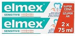 Parfumuri și produse cosmetice Set - Elmex Sensitive Toothpaste (toothpaste/2x75ml)
