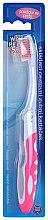 Parfumuri și produse cosmetice Periuță de dinți, roz - VitalCare White Pearl Folding Travel Toothbrush