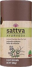 Vopsea de păr (henna) - Sattva Ayuvrveda (Czarna) — Imagine N9