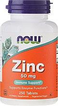 Parfumuri și produse cosmetice Minerale Gluconat de zinc de 50 mg, comprimate - Now Foods Zink