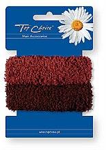 Parfumuri și produse cosmetice Elastice de păr 2 buc., maro - Top Choice