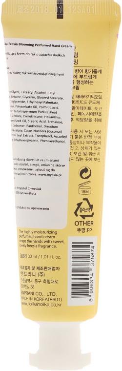 "Cremă de mâini ""Frezie"" - Holika Holika Freesia Blooming Perfumed Hand Cream — Imagine N2"