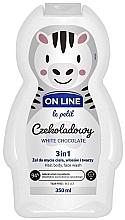 """Parfumuri și produse cosmetice Gel se spălare pentru păr, corp și față """"Ciocolată albă"""" - On Line Le Petit White Chocolate 3 In 1 Hair Body Face Wash"""