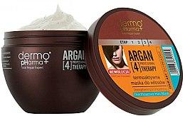Parfumuri și produse cosmetice Mască pentru păr termoactivă - Dermo Pharma Argan Professional 4 Therapy Strengthening & Smoothing Mask