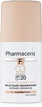 Parfumuri și produse cosmetice Деликатный тональный флюид SPF20 - Pharmaceris F Intense Coverage Mild Fluid Foundation SPF20