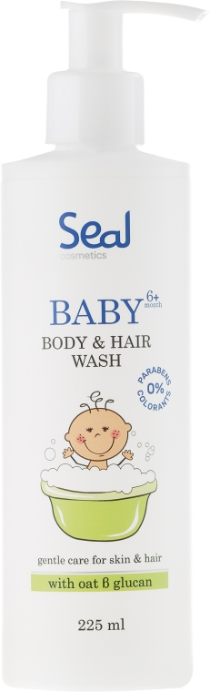 Gel-șampon pentru copii - Seal Cosmetics Baby Body And Hair Wash Gel