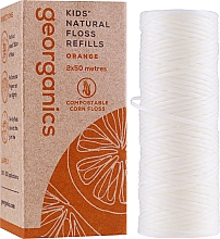 Parfumuri și produse cosmetice Ață dentară, 2x50m - Georganics Natural Sweet Orange Dental Floss (rezervă)
