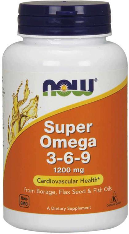 """Complex de acizi grași """"Super Omega 3-6-9"""", capsule - Now Foods Super Omega 3-6-9 1200 mg"""