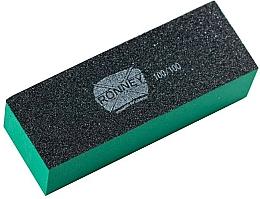 Parfumuri și produse cosmetice Buffer pentru unghii, 100/100, verde-negru - Ronney Professional