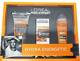Parfumuri și produse cosmetice Set - L'Oreal Paris Men Expert Hydra Energetic (f/cr/50ml + f/gel/100ml + deo/50ml)