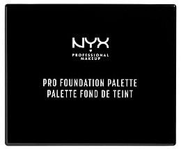 Parfumuri și produse cosmetice Paletă de machiaj - NYX Professional Makeup Pro Foundation Palette