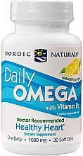 "Parfumuri și produse cosmetice Пищевая добавка, лимон 500 мг ""Omega + D3"" - Nordic Naturals Daily Omega"