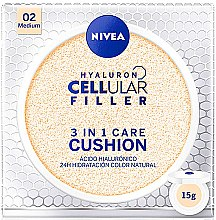 Parfumuri și produse cosmetice Fond de ten - Nivea Hyaluron Cellular Filler 3in1 Care Cushion SPF 15