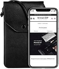 """Parfumuri și produse cosmetice Husă-gentuță pentru telefon, neagră """"Cross"""" - Makeup Phone Case Crossbody Black"""