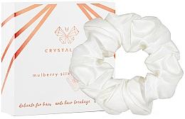 Parfumuri și produse cosmetice Elastic din mătase pentru păr, fildeș - Crystallove