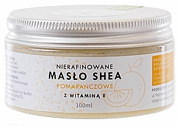 Parfumuri și produse cosmetice Unt de shea cu vitamina E, nerafinat  - Natur Planet Orange Shea Butter Unrefined & Vitamin E