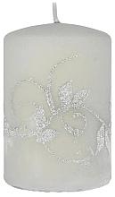 Parfumuri și produse cosmetice Lumânare decorativă, gri, 7x10cm, cilindru - Artman Amelia Candle